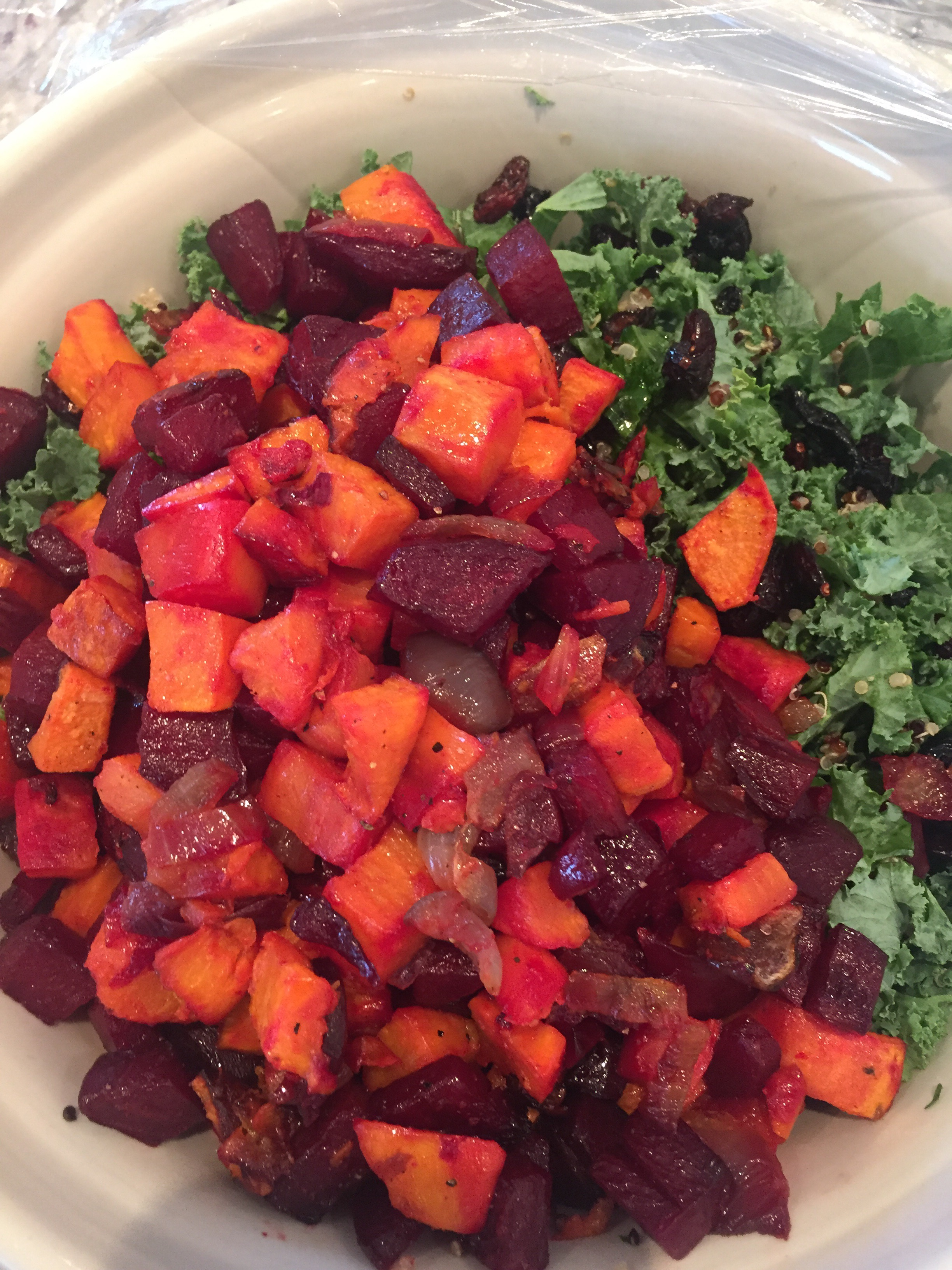 Choosing Health Kale, Quinoa & Roasted Roots Salad Recipe