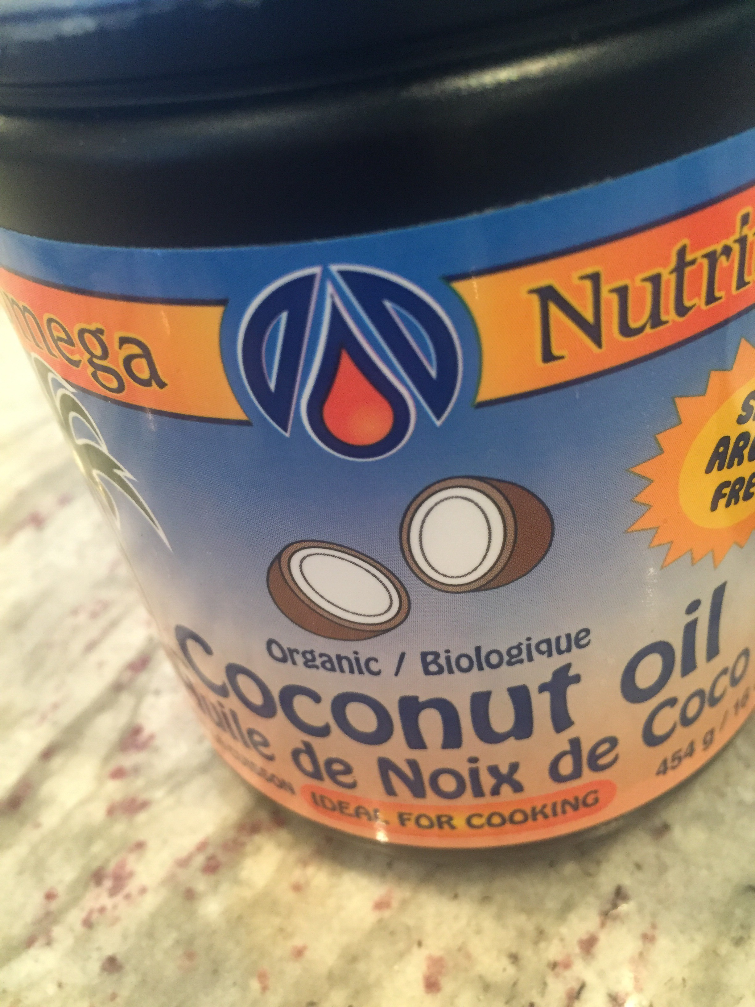organic nut-free omega nutrition coconut oil